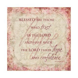 Blessed es las que confían en en el señor Canvas Impresiones En Lona Estiradas