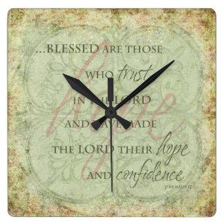 Blessed es las que confían en en el señor Clock Reloj De Pared
