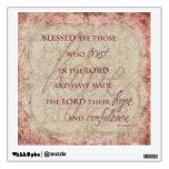 Blessed es las que confían en… Etiqueta de la pare