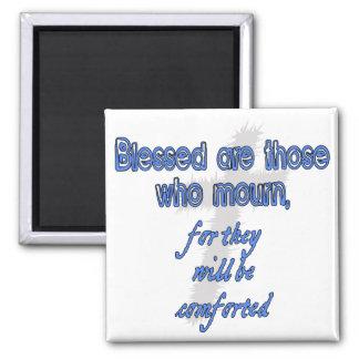 Blessed es las que están de luto imán cuadrado