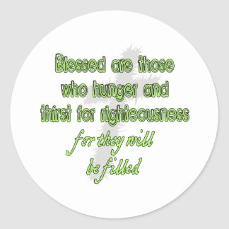 Blessed es las que tienen hambre etiquetas redondas