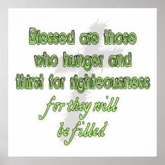 Blessed es las que tienen hambre póster