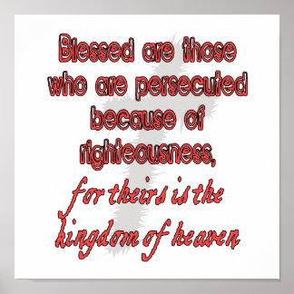 Blessed es las se persiguen que póster
