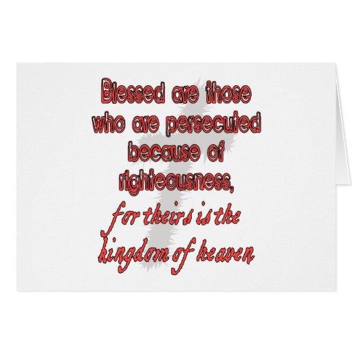 Blessed es las se persiguen que tarjeta de felicitación
