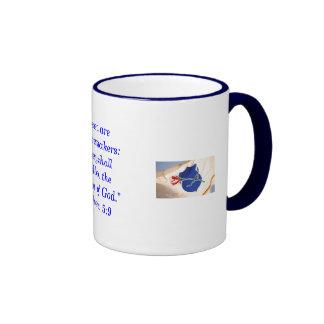 Blessed es los fabricantes de la paz…. taza de dos colores
