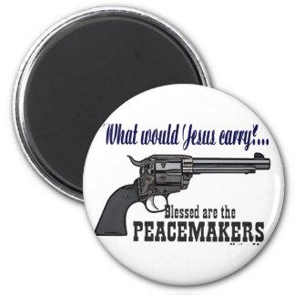 Blessed es los pacificadores iman de nevera