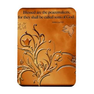 Blessed es los pacificadores imán de vinilo