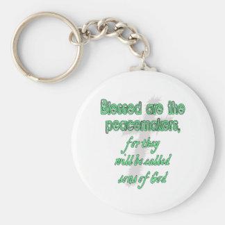 Blessed es los pacificadores llaveros