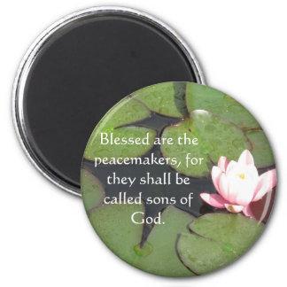 Blessed es los pacificadores, porque ...... imán de frigorífico