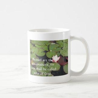 Blessed es los pacificadores porque tazas de café
