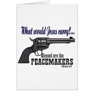 Blessed es los pacificadores tarjeta de felicitación