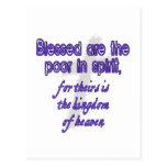 Blessed es los pobres en alcohol postales