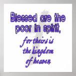 Blessed es los pobres en alcohol poster