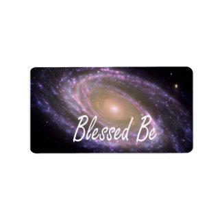 Blessed esté diciendo contra imagen de la galaxia etiqueta de dirección