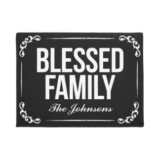 Blessed Family Doormat2 Doormat
