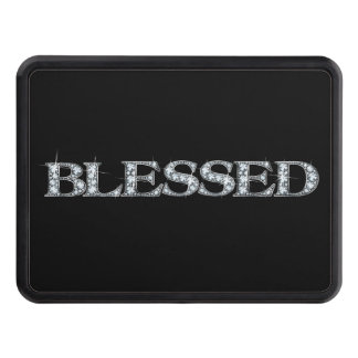 "BLESSED Faux-""Diamond Bling"" Hitch Cover"