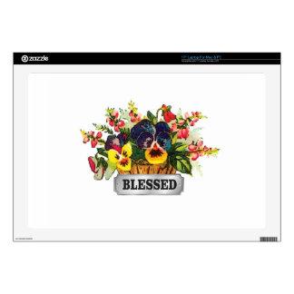 "blessed flower arrangement 17"" laptop decals"