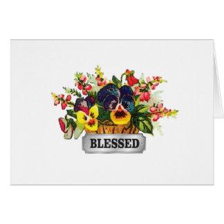 blessed flower arrangement card