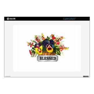 blessed flower arrangement laptop skins