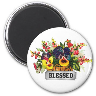 blessed flower arrangement magnet