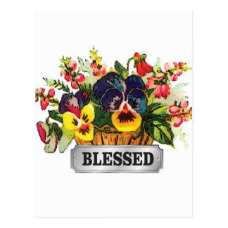 blessed flower arrangement postcard
