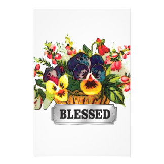 blessed flower arrangement stationery
