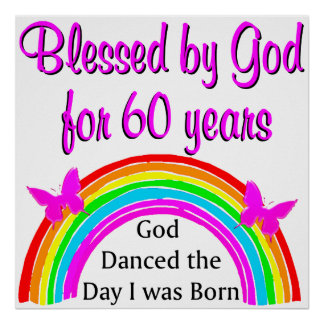 BLESSED FOR 60 YEARS POSTER