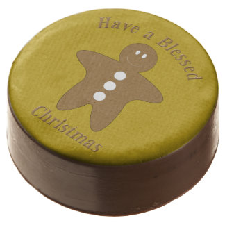 Blessed Gingerbread Man Chocolate Dipped Oreo