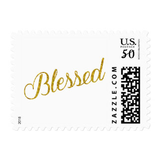 Blessed Gold Faux Glitter Metallic Sequins Postage