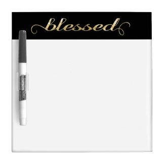 Blessed, Gold Foil-Look Inspirational Grateful Dry-Erase Board