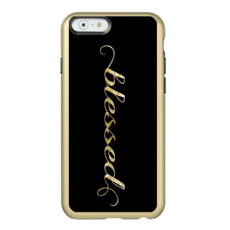 Blessed, Gold Foil-Look Inspirational Grateful Incipio Feather® Shine iPhone 6 Case