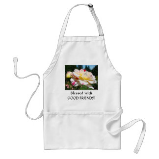 BLESSED GOOD FRIENDS! Rose Apron Gifts