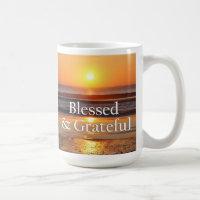 Blessed & Grateful Sunset in Portugal Mug