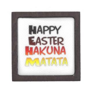 Blessed Happy Easter Hakuna Matata Holiday Season Gift Box