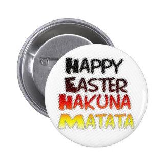 Blessed Happy Easter Hakuna Matata Holiday Season Pinback Button