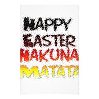 Blessed Happy Easter Hakuna Matata Holiday Season Stationery