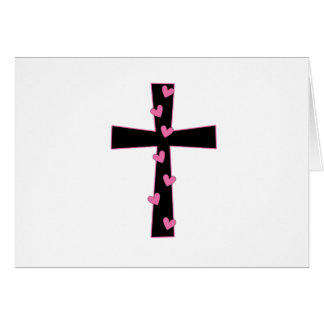 Blessed Heart Cross Card