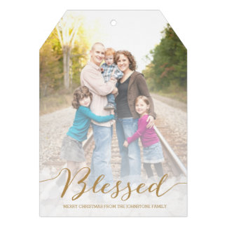 Blessed Holiday Photo Card Invitations