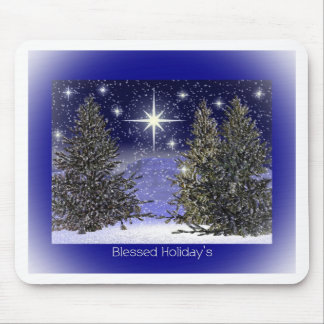 Blessed Holidays Greetings Mouse Pad