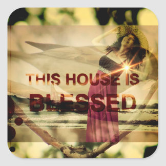 Blessed Home Gifts Square Sticker