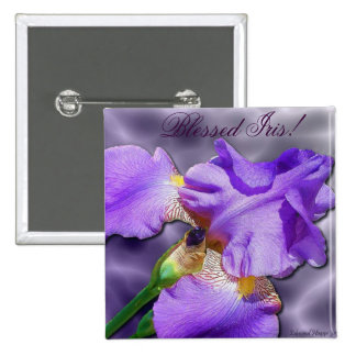 Blessed Iris Button