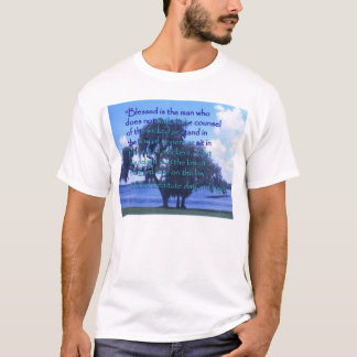 """""""Blessed is the man..."""" (2 sides) T-Shirt"""