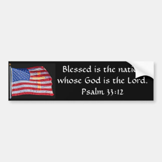 Blessed Is The Nation Bumper Sticker