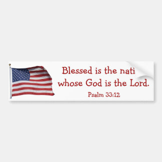 Blessed is the nation Bumper Sticker2 Bumper Sticker
