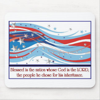 Blessed is the nation whose God is the LORD Mouse Pad