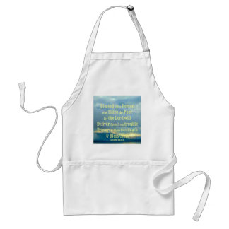 Blessed is the person who helps adult apron