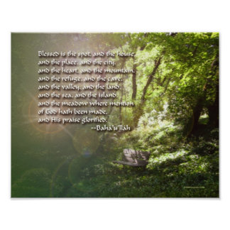 Blessed is the Spot - Baha'i Print Poster