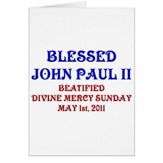 Blessed John Paul 2 Card