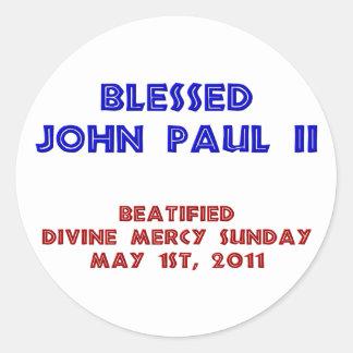 Blessed John Paul 2 Classic Round Sticker