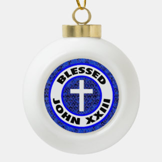 Blessed John XXIII Ceramic Ball Christmas Ornament